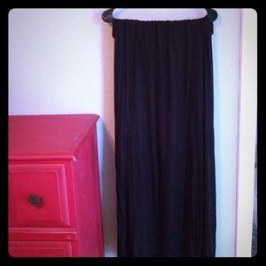 Torrid 3 black double split maxi skirt
